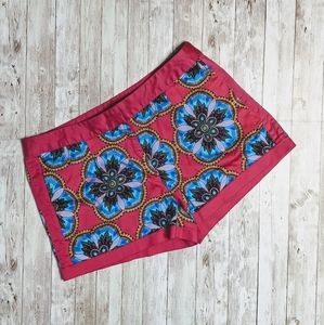 Nicole by Nicole Miller Pink Mandala Floral Shorts